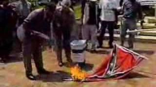 Burning a Confederate Flag - June 17, 2000