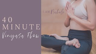 40 Minute Yoga Video with ab workout | Vinyasa Flow