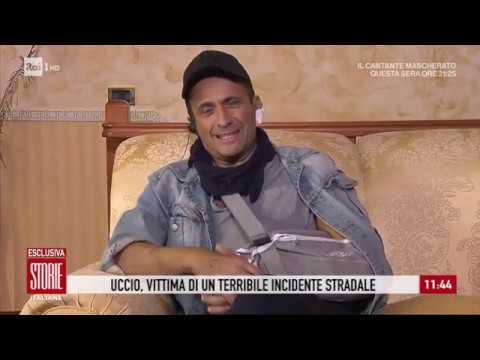 """Uccio De Santis dopo l'incidente: """"Ho visto la morte in faccia"""" - Storie italiane 10/01/2020"""