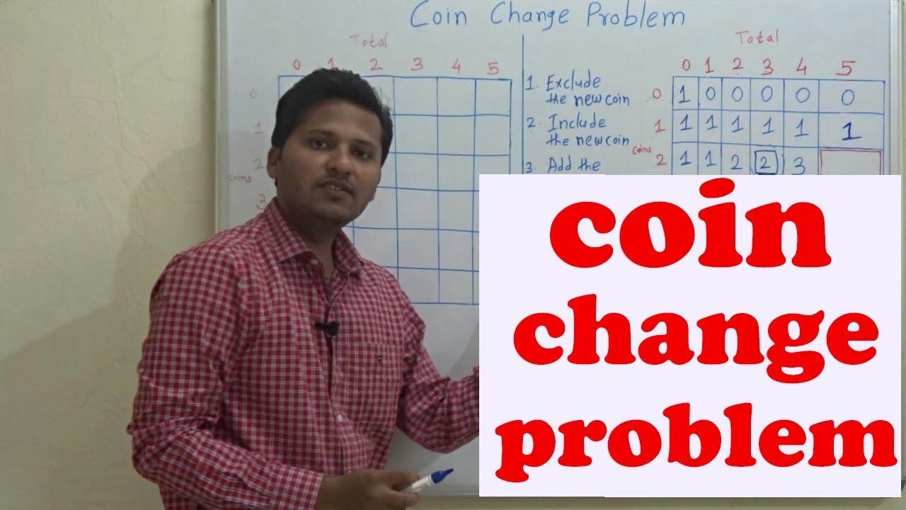 Coin change problem(Dynamic Programming)(Code/Algorithm/program)