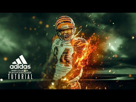 Fire Effect L Sports Poster Design