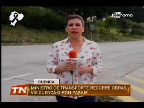 Ministro de transporte recorre obras vía Cuenca-Girón-Pasaje
