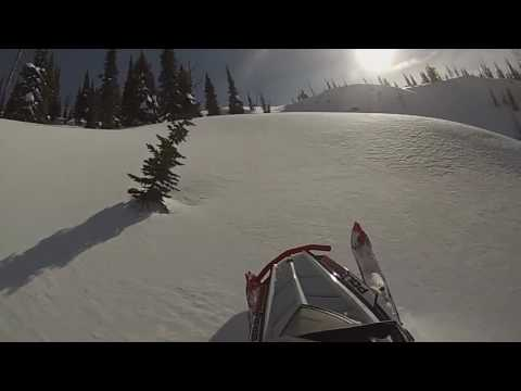 Snowmobiling the 406 Lolo pass Seeley lake 2016