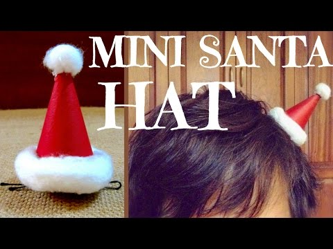 How to Make a Santa Hat Hair Clip | DIY Christmas Gifts