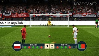POLAND vs PORTUGAL | Penalty Shootout | PES 2019 Gameplay PC