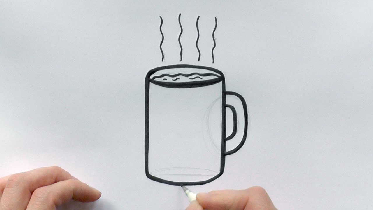 how to draw a cartoon cup of coffee youtube