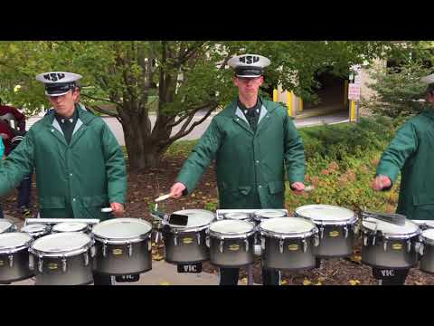 MSU Drumline playing