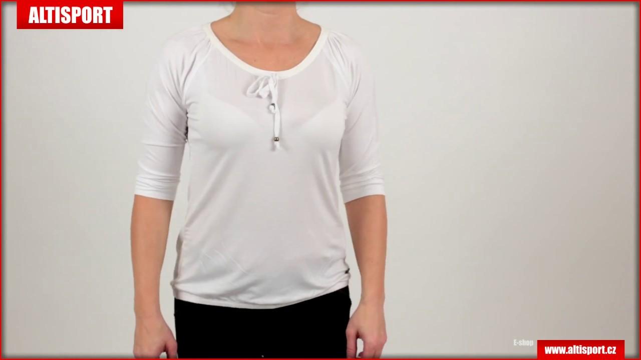 734adfbf433 dámské triko s 34 rukávem kixmi betty aaltw16105 bílá - YouTube