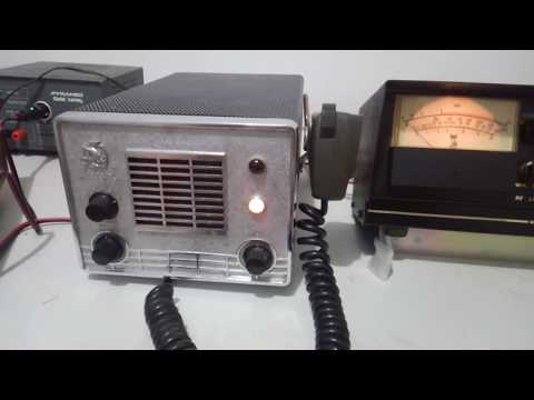 Vintage White Faced Johnson CB and Wawasee Electronics Meter