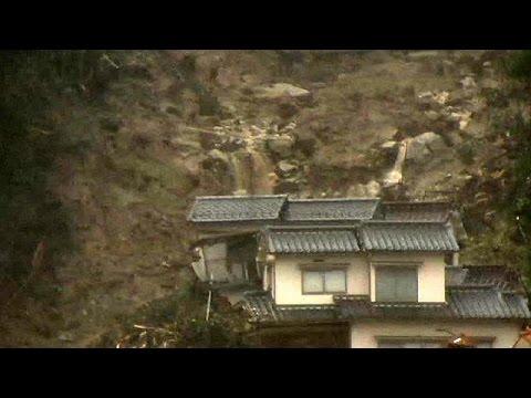 Japan braces for more rain, counts cost of landslides