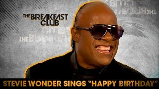WATCH: Stevie Wonder Sings Happy Birthday To Hillary Clinton