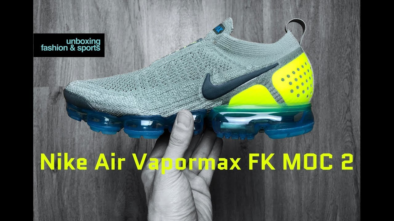 online store 6388e 71550 Nike Air Vapormax FK MOC 2 'mica green/volt-neo Turq' | UNBOXING & ON FEET  | fashion shoes | 4K