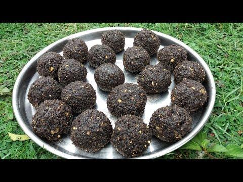 Olden Method of Making RAGI - SESAME Balls in My Village / Healthy Food Ever