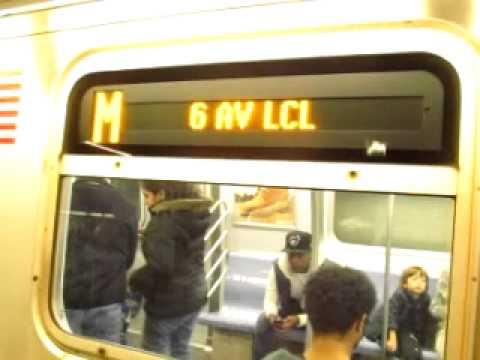 IND Sixth Avenue:34th Street -- Herald Square:57th Street M Bound Train