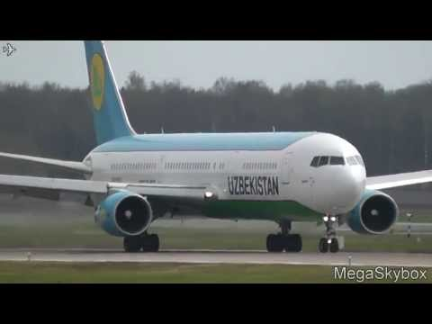 Uzbekistan Airways UK67002 Boeing 767-33PER  landing at Moscow-Domodedovo (DME/UUDD)