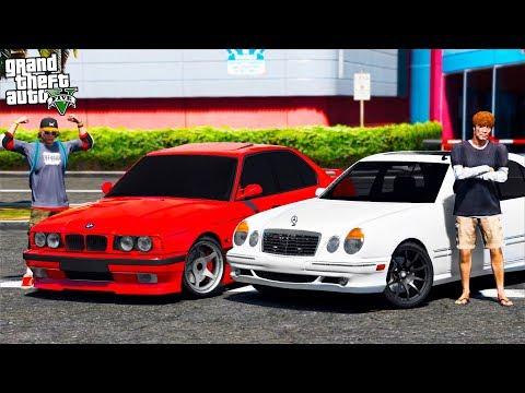 РЕАЛЬНАЯ ЖИЗНЬ В GTA 5 - ВОССТАНОВИЛИ MERCEDES E55 И BMW M5 E34! ДРАГ И ШАШКИ ПО ТРАССЕ! 🌊ВОТЕР
