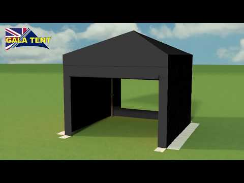 3m x 3m Industrial Gazebo: Industrial Gazebo Shade: pop up