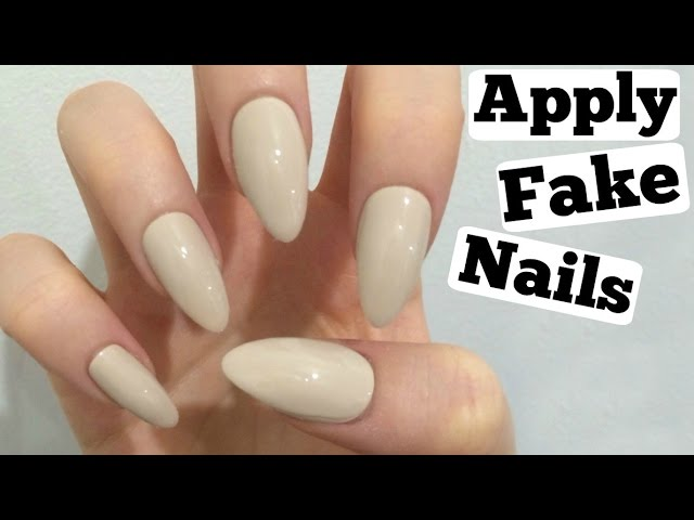 How to put on fake nails at home with glue