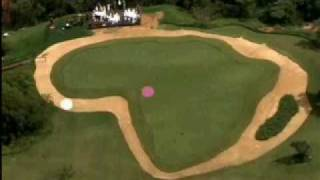 Padraig Harrington playing Worlds Longest Golf Hole 830m