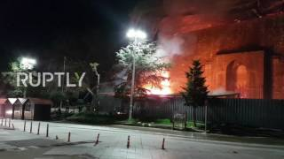 Greece  Flames tear through Europe's oldest Mosque, the Celebi Sultan Mehmed