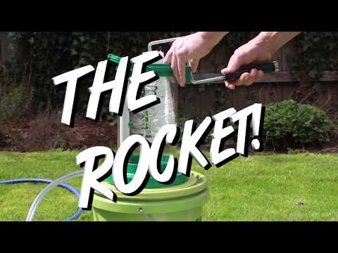 The Rocket   Hands free paint roller cleaner by Green Leos