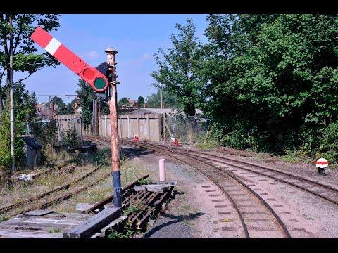 DRIVERS EYE VIEW OF THE SITTINGBOURNE & KEMSLEY LIGHT RAILWAY: Sittingbourne Viaduct-Kemsley Down