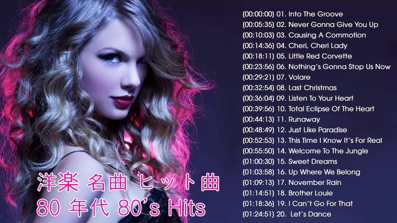 年代 洋楽 ヒット チャート 100 80 【1980年代洋楽】当時流行った名曲とアーティストをジャンル別に紹介! 2021年7月