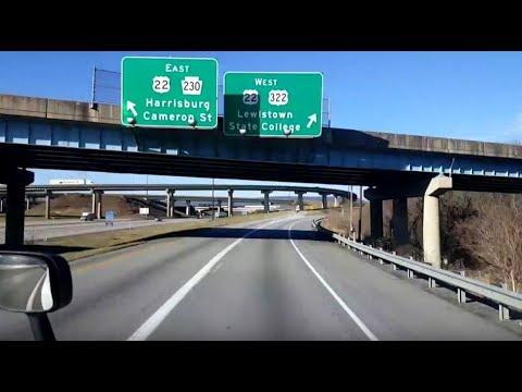 BigRigTravels LIVE! Palmyra to Brookville, Pennsylvania I-81, US 322, I-99 & I-80-Dec. 21, 2017