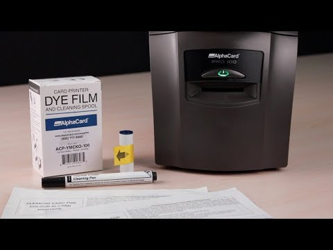 AlphaCard PRO 100 ID Card Printer - How to Clean Your Printer