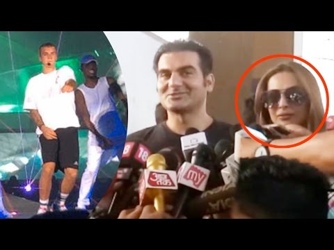 Malaika Arora Khan With Ex Husband Arbaaz Khan Snapped At Justin Bieber Concert