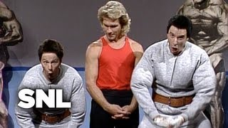 Pumping Up with Hans and Franz: Patrick Swayze - Saturday Night Live