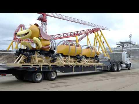 Slinky Dog Dash Roller Coaster Train Arrives At Toy Story Land, Disney's Hollywood Studios
