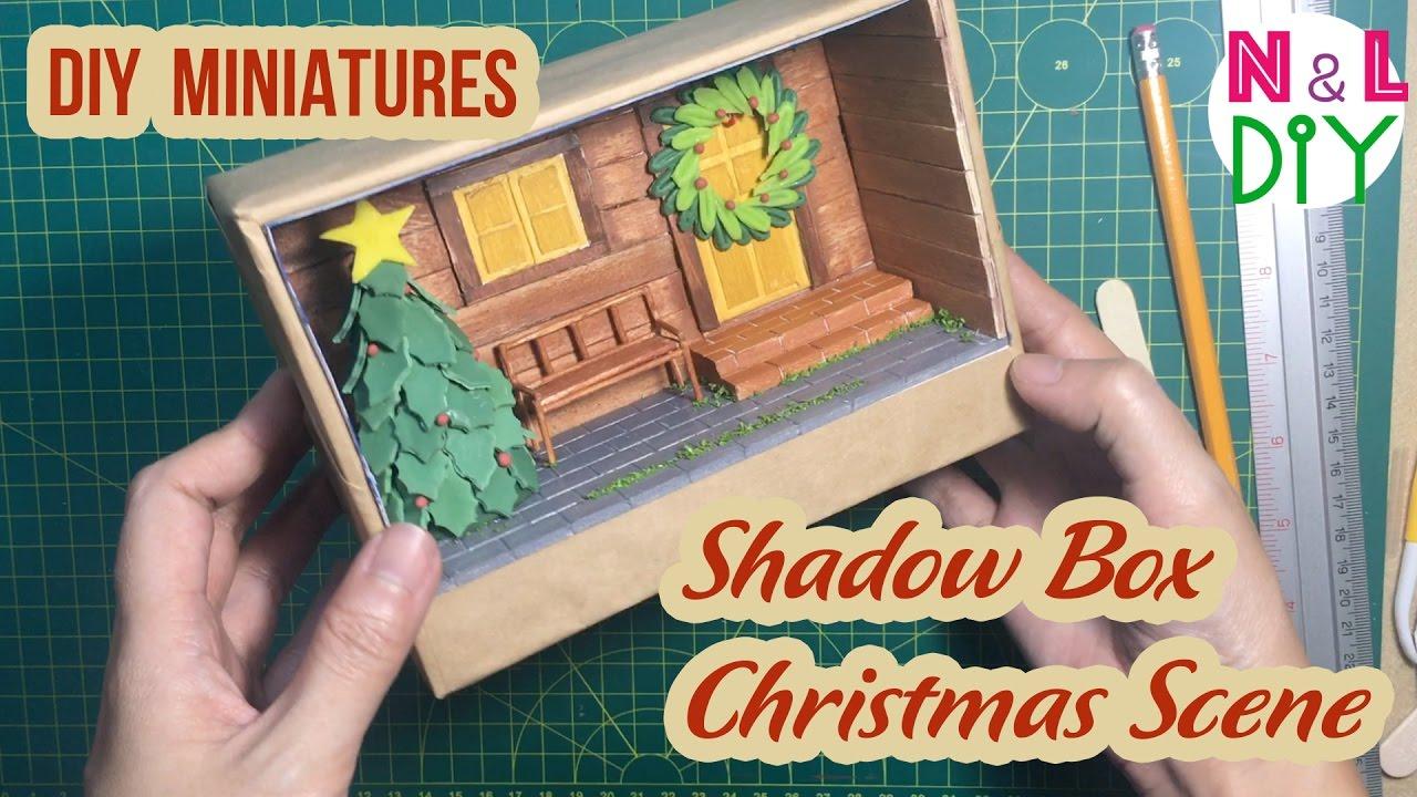 Christmas Shoebox Diorama.Diy Miniature Shadow Box Diorama Christmas Scene N L Diy