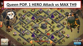 Queen POP LaLoon. 1 HERO vs MAX TH9. BEST NEW AIR ATTACK TH9. Clash of Clans Loons