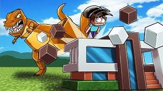 Minecraft | DINOSAUR BASE CHALLENGE - Jurassic Park is Destroyed! (GIANT T-REX)