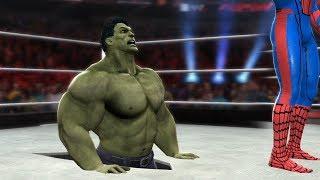 HULK VS SPIDERMAN - I Quit Match