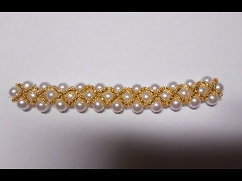 нежный браслет из бисера и бусин Delicate Bracelet With Beads And