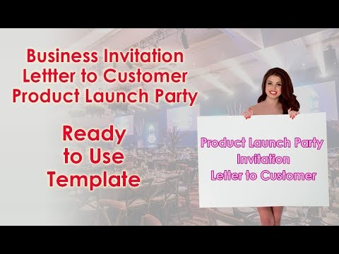 Business Invitation Letter To Customer For Product Launch Party