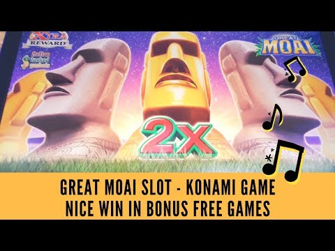 Great Moai Slot First Look Fun New Konami Game Live