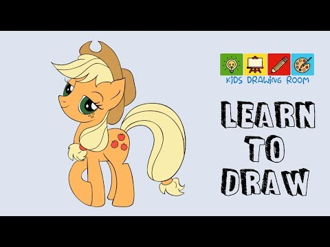 How To Draw Applejack My Little Pony