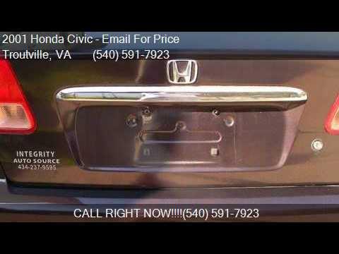 2001 Honda Civic LX 4dr Sedan for sale in Troutville, VA 241