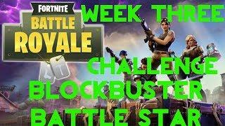 Fortnite Battle Royale | Season 4 Week 3 | Blockbuster Secret Battle Star Location Guide