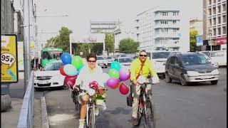 Молодожёны прокатились из загса до Ленина на велосипедах