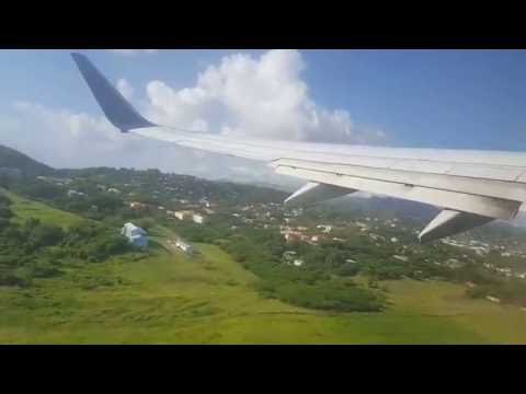 Grenada  runway 10 departure...beautiful  st George's