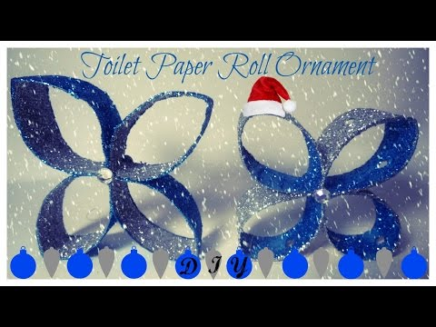 DIY -  PAPER ROLL CHRISTMAS ORNAMENT - CHRISTMAS CRAFTS