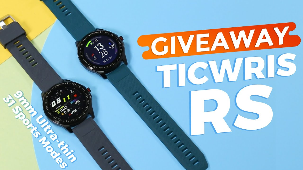 (CLOSED)GIVEAWAY! How About TICWRIS RS Smartwatch with 31 Sports Modes?