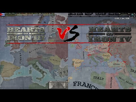 Hearts of Iron 3 VS Hearts of Iron 4 [Paradox Double Timelapse] |