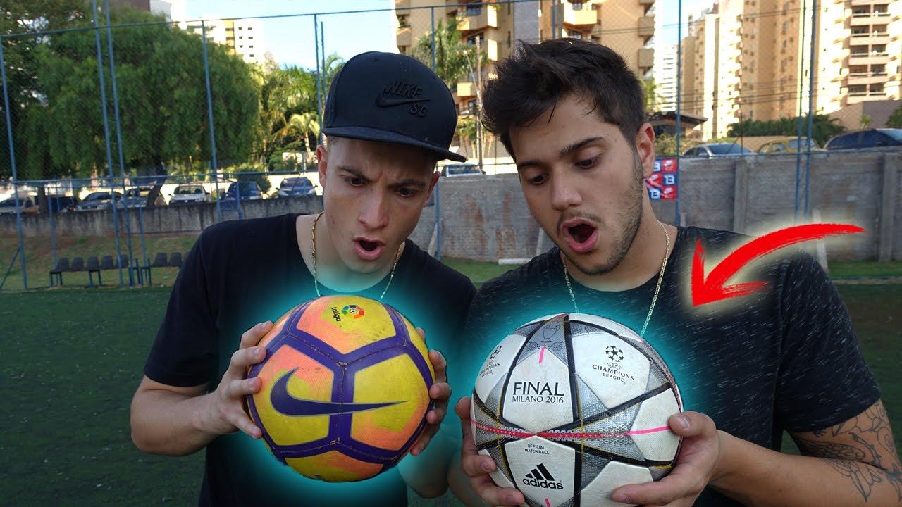 NIKE vs ADIDAS - QUAL BOLA DE FUTEBOL É A MELHOR ! - YouTube fe13d19ec8c32