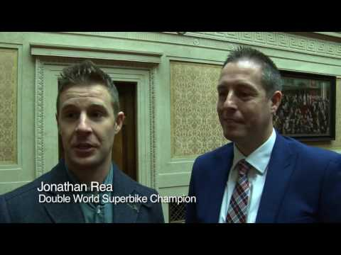 Double world superbike champion Rea honoured at Stormont