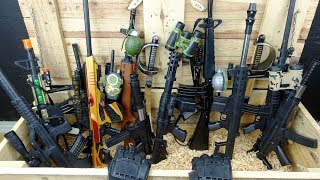 Military Weapons Case! Realistic Toy Rifles - Machine Gun Toys and Military Equipment
